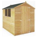 Mercia Overlap Apex Wooden Garden Shed - 7 x 5ft.