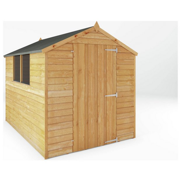 buy mercia overlap apex wooden garden shed 8 x 6ft at. Black Bedroom Furniture Sets. Home Design Ideas
