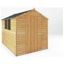 Mercia Overlap Wooden Garden Shed - 8 x 6ft