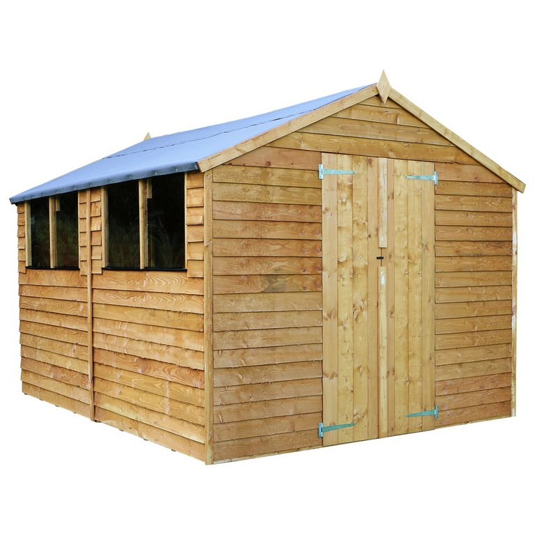 Garden Sheds 12 X 12 buy mercia overlap wooden garden shed - 12 x 8ft at argos.co.uk