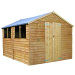more details on Mercia Garden Overlap Apex Wooden Garden Shed - 12 x 8ft.