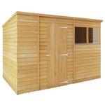 Mercia Overlap Pent Wooden Garden Shed - 10 x 6ft.