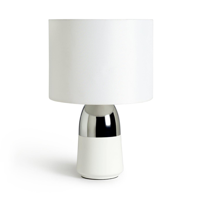 Argos Home Duno Touch Table Lamp   White U0026 Chrome