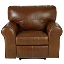 Heart of House Salisbury Leather Manual Recliner Chair - Tan