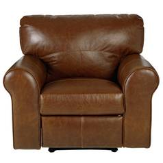 Argos Home Salisbury Leather Manual Recliner Chair - Tan