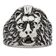 Revere Men's Stainless Steel Lion Ring