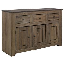 Argos Home Amersham Large Solid Wood Sideboard - Dark Pine