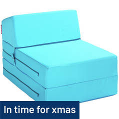 ColourMatch Single Chairbed - Crystal Blue