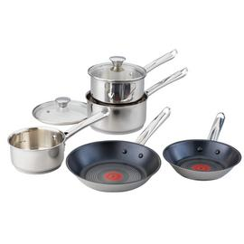 Tefal 5 Piece Non-Stick Stainless Steel Pan Set
