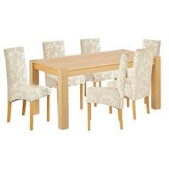 9fbd3e84a16d Argos Home Alston Oak Veneer Table and 6 Chairs