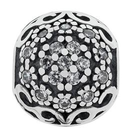 Moon & Back Sterling Silver Cubic Zirconia Stopper Bead