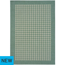 County Gingham Rug - 120x170cm - Duck Egg