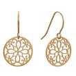 more details on Revere 9ct Gold Cut Out Round Drop Earrings.