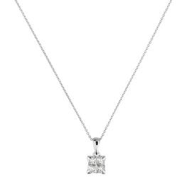 Revere 9ct White Gold Diamond Pendant 18 Inch Necklace