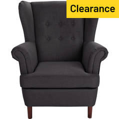 Argos Home Martha Fabric Wingback Chair - Charcoal