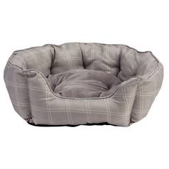Country Check Oval Large Pet Bed
