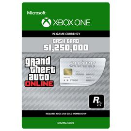 Grand Theft Auto Great White Shark V Xbox One Cash Card