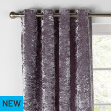 Collection Cara Velvet Lined Curtains - 168x229cm - Shadow