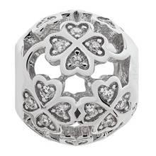 Moon & Back Sterling Silver Cubic Zirconia Flower Bead