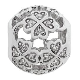 Moon & Back Sterling Silver Cubic Zirconia Flower Bead