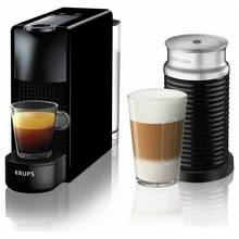 Nespresso Essenza Mini Coffee Machine Bundle by KRUPS- Black