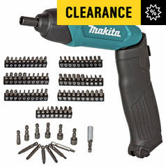 Makita 3.6V Li-ion Cordless Screwdriver with 81 Accessories