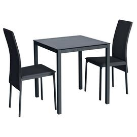 Argos Home Lido Glass Dining Table & 2 Chairs