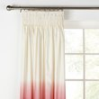 more details on HOME Ombre Unlined Pencil Pleat Curtains - 117x137cm - Red.