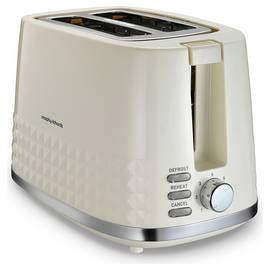 Morphy Richards 220022 Dimensions 2 Slice Toaster - Cream