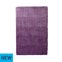 Collection Ombre Supersoft Shaggy Rug - 170x110cm - Plum