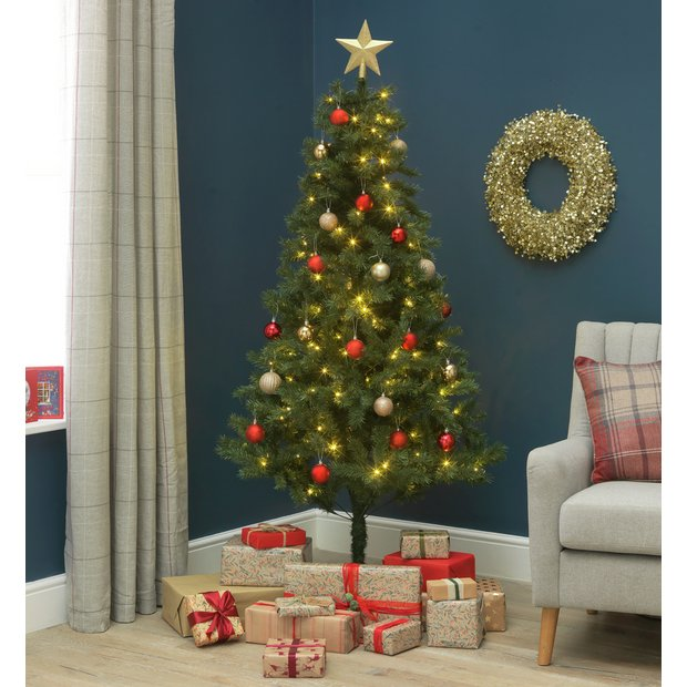 Buy Argos Home 6ft Nordland Pre Lit Christmas Tree Green Artificial Christmas Trees Argos
