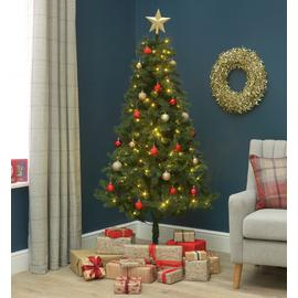 Argos Home 6ft Nordland Pre-Lit Christmas Tree - Green