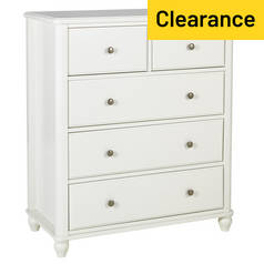 Argos Home Ashbourne 3+2 Drawer Chest - Ivory