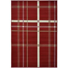 Maestro Checked Rug - 160x230cm - Red