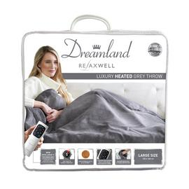 Relaxwell by Dreamland Luxury Velvety Heated Throw - Grey