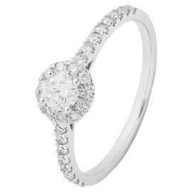 Revere 9ct White Gold 0.50ct tw Diamond Cluster Ring