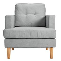 Argos Home Joshua Fabric Chair - Light Grey