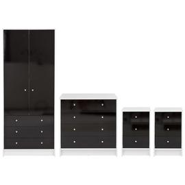 Argos Home Malibu Gloss 4 Piece 2 Door 3 Drawer Wardrobe Set