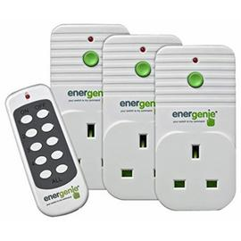 Energenie 3 Pack of Remote Controlled Plugs