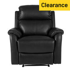 Argos Home Tyler Manual Recliner Chair - Black