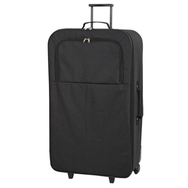 Buy Simple Value Soft 2 Wheeled XL Suitcase - Black at Argos.co.uk ...