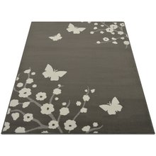 Maestro Butterfly and Floral Rug - 160x230cm - Grey
