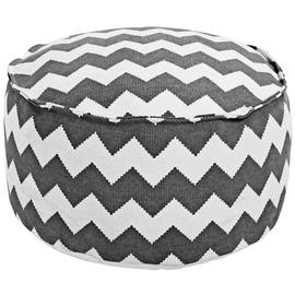 Argos Home Zig Zag Fabric Footstool - Charcoal