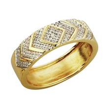 Revere Mens 9ct Gold Diamond Accent Commitment Ring