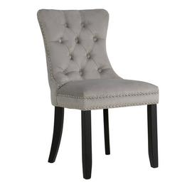 Argos Home Princess Velvet Dining Chair - Light Grey