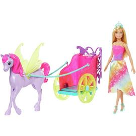 Barbie Dreamtopia Doll with Horse and Chariot Playset