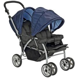 Cuggl Elm Tandem Pushchair - Black & Blue