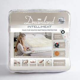 Dreamland Intelliheat Faux Fur Mattress Protector - Kingsize