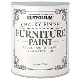 Rust-Oleum Chalky Matt Furniture Paint 750ml - Antique White