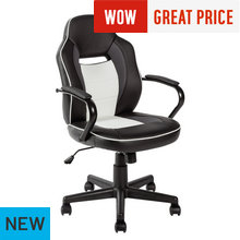 HOME Mid Back Gaming Chair - White & Black